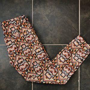 H&M patterned skinny pants